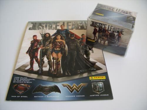 1x écran avec 36 pochettes Justice League PANINI Leeralbum!!!