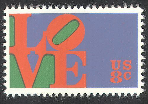 USA 1973 Greetings/Love/Animation/Design 1v (n29233)
