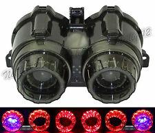 Tail Turn Signals Light Blue Led Smoke Lens For YAMAHA BWS ZUMA X-Over 125 YW125