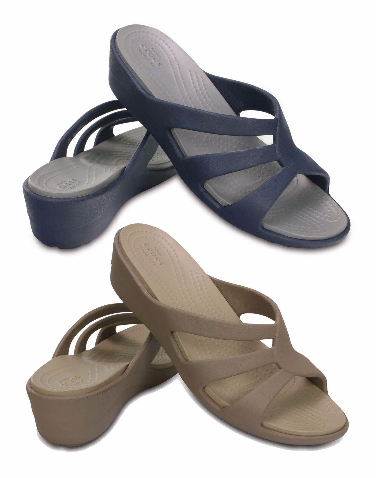 CROCS SANRAH STRAPPY wedge W women's shoes sandals flip-flops slippers wedge