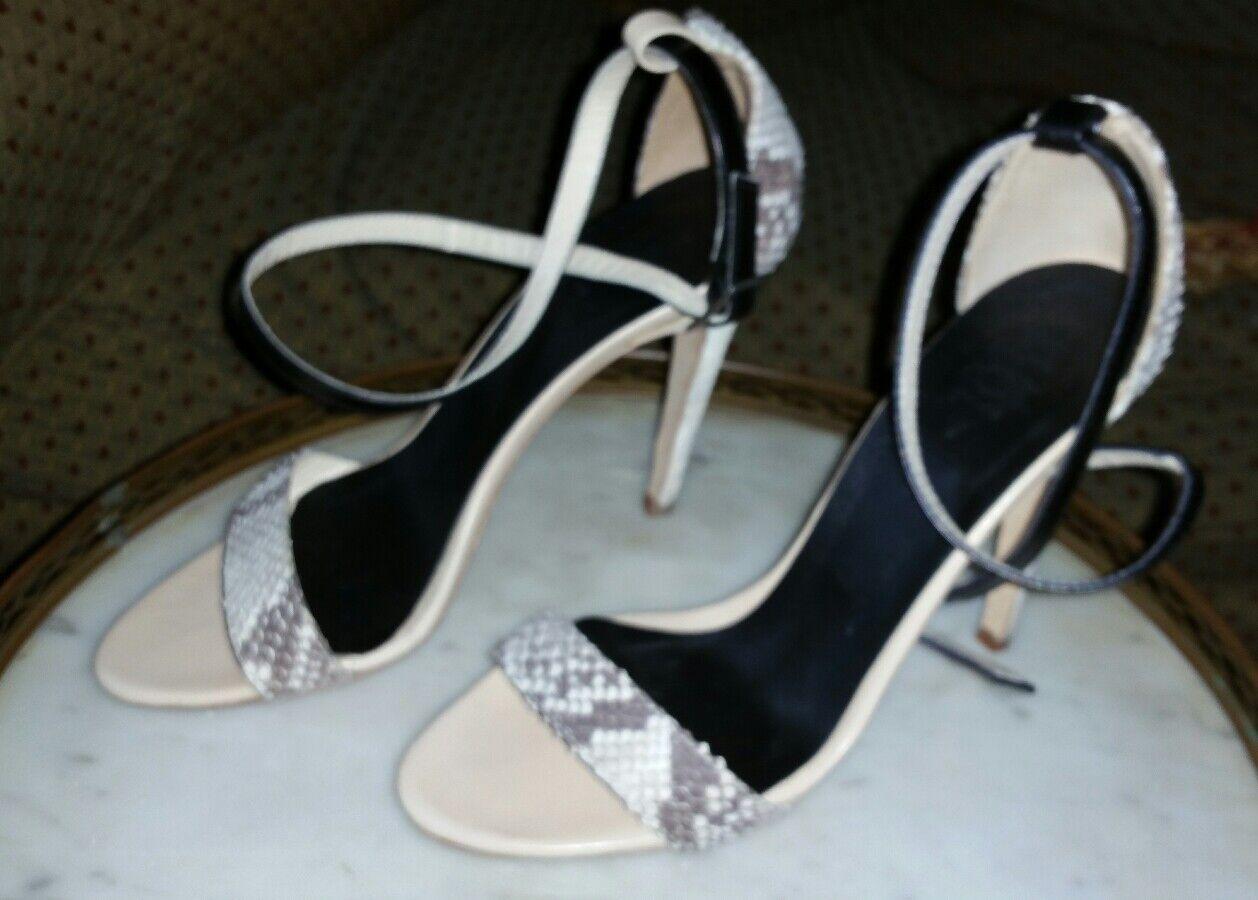 alta quaità Tibi Beige Snakeskin Snakeskin Snakeskin Heels Sz 35.5 stilettos Excellent condition   migliore vendita