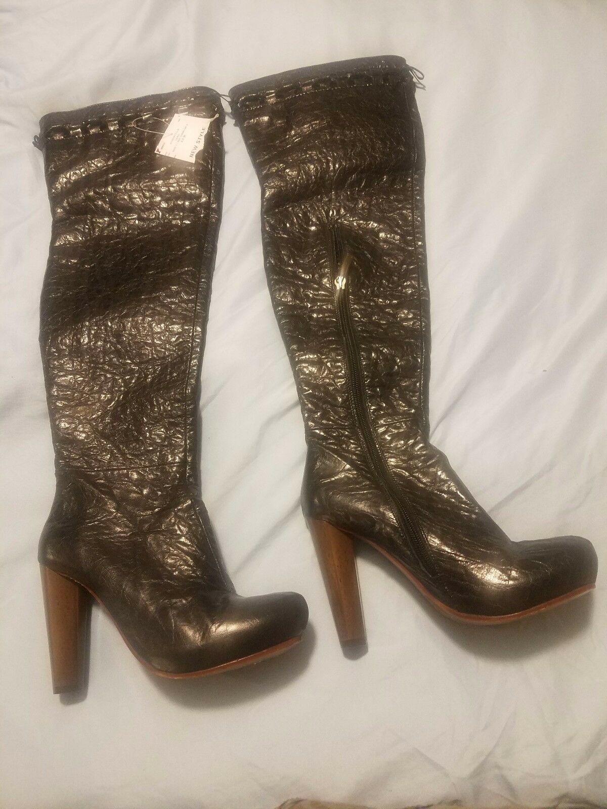 Women  heels Thigh High Leather Boot