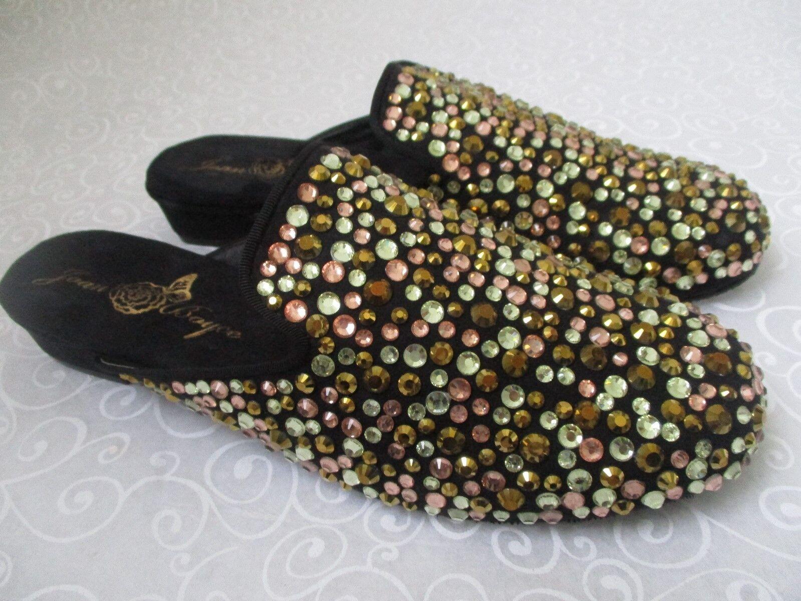 JOAN BOYCE MULTI-COLOR RHINESTONE SLIDES Schuhe SIZE - 8 1/2 M - SIZE NEW f1d490