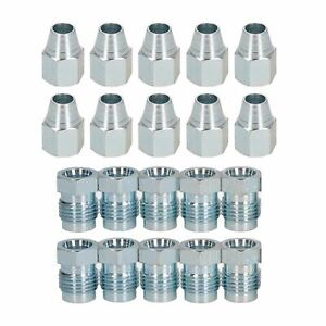 Short-1-2-034-x-20-UNF-Male-Female-Steel-Brake-Pipe-Fittings-for-5-16-034-Pipe-20pc