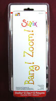 Sizzix Dies, Bang Zoom Alphabet Set, Very Rare With Case(12 Dies)sizzlits