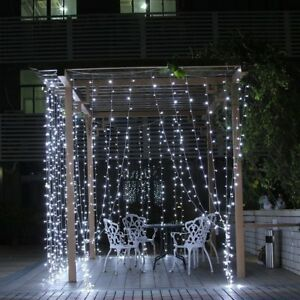 Uk 6mx3m 600leds outdoorindoor led fairy string curtain lights with image is loading uk 6mx3m 600leds outdoor indoor led fairy string aloadofball Image collections