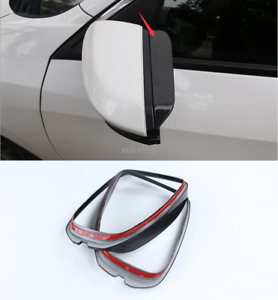 Carbon Fiber Side Rearview Mirror Visor Shade Rain Guard For 2017 Honda Civic