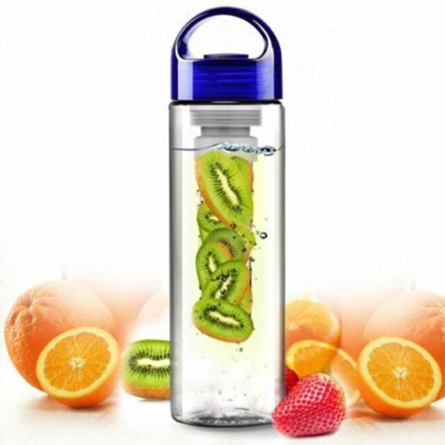 800ML Portable Fruit Infusing Infuser Water Juice Health Bottle Flip Lid Cup