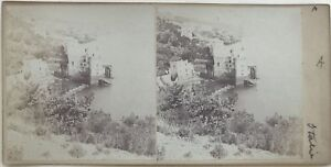 Italia Près Napoli Fotografia Stereo Amateur Vintage Albumina