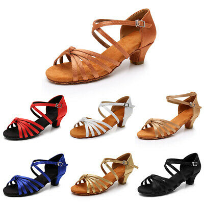 New Children child Girl kids Ballroom Latin Tango party Dance Shoes soft Salsa