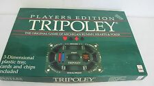TRIPOLEY GAME MICHIGAN RUMMY PLAYERS EDITION CADCO #300 3D TRAY 1989 VINTAGE