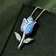 Blue-Fire-Opal-Chain-Rhinestone-925-Silver-Jewelry-Flower-Pendant-Necklace thumbnail 1