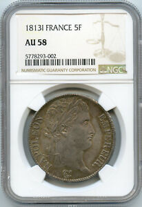 Napoleon The1st (1804-1814) 5 Francs 1813 I Limoges NGC IN The 58
