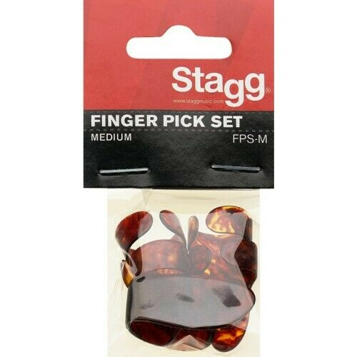 STAGG Satz Plastik Fingerpicks mediumNeu