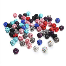 1000Pc Craft Mixed Czech Crystal Rhinestone Pave Clay Disco Ball Loose Bead 10MM