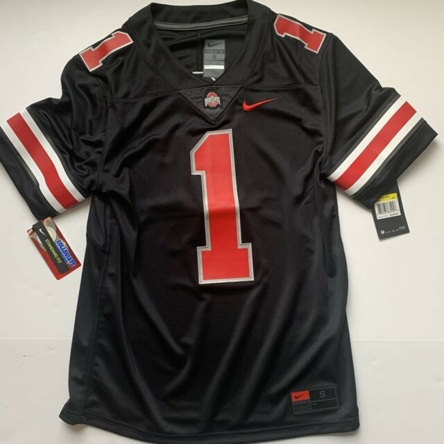 Small Nike Ohio State Buckeyes #1 Black Football Jersey Stitched 100 Authentic