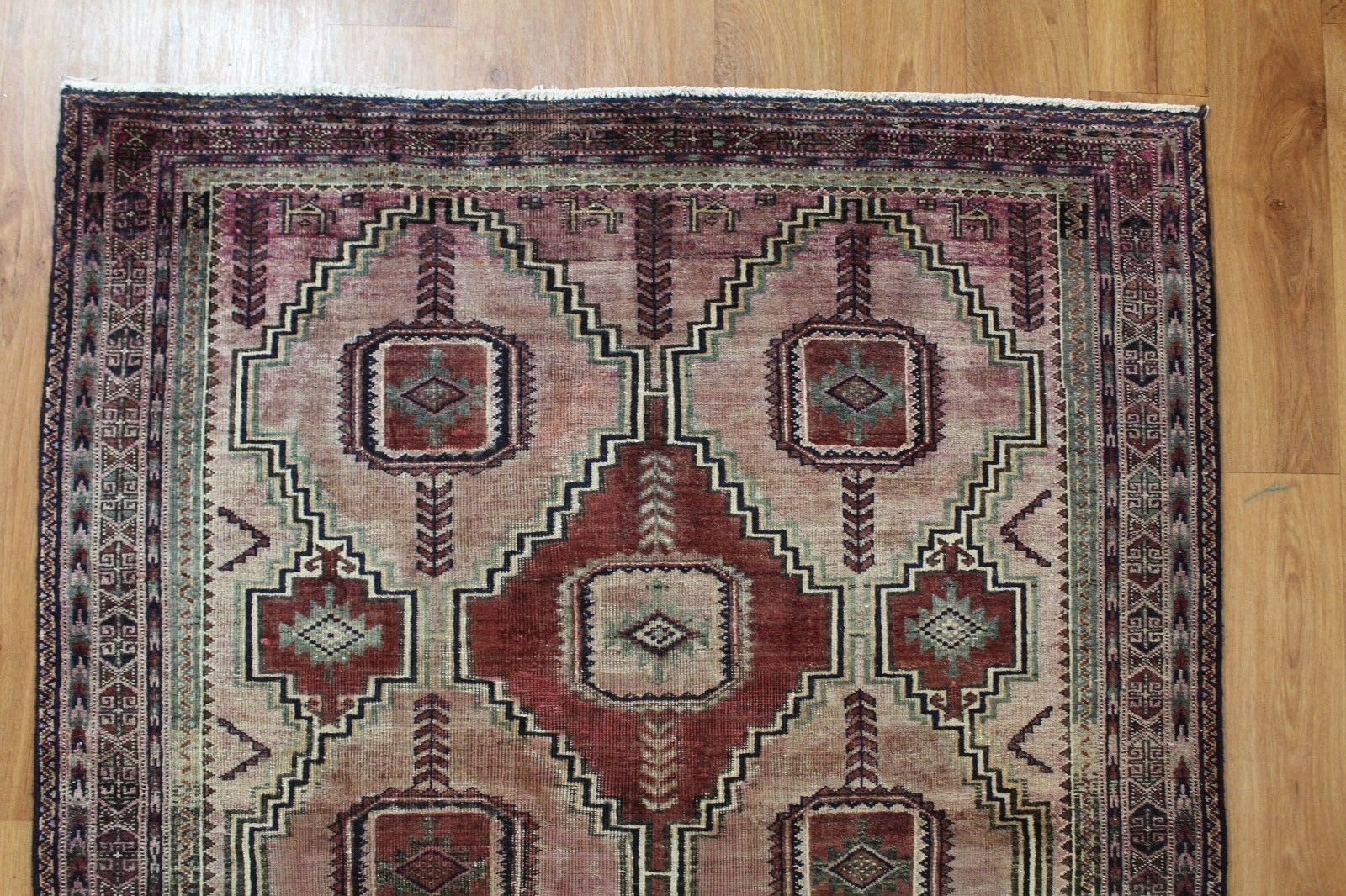 OLD WOOL HAND MADE  ORIENTAL FLORAL RUNNER AREA AREA AREA PERSIAN RUG CARPET 278X 130 CM e8a7e0
