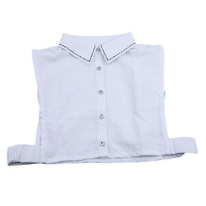 Womens-False-Collar-Fake-Half-Shirt-Blouse-Ladies-Detachable-Collar-Dotted-N7