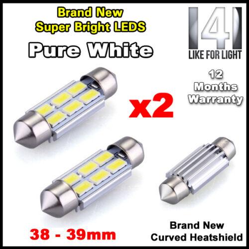 2x sans erreur canbus pure white 6 smd led 39mm 239 272 C5W Ampoule Plaque Numéro