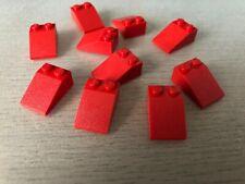 slope red 3043 Dachstein Lego ® 10x Firststein hoch 45 Grad 2x2 rot