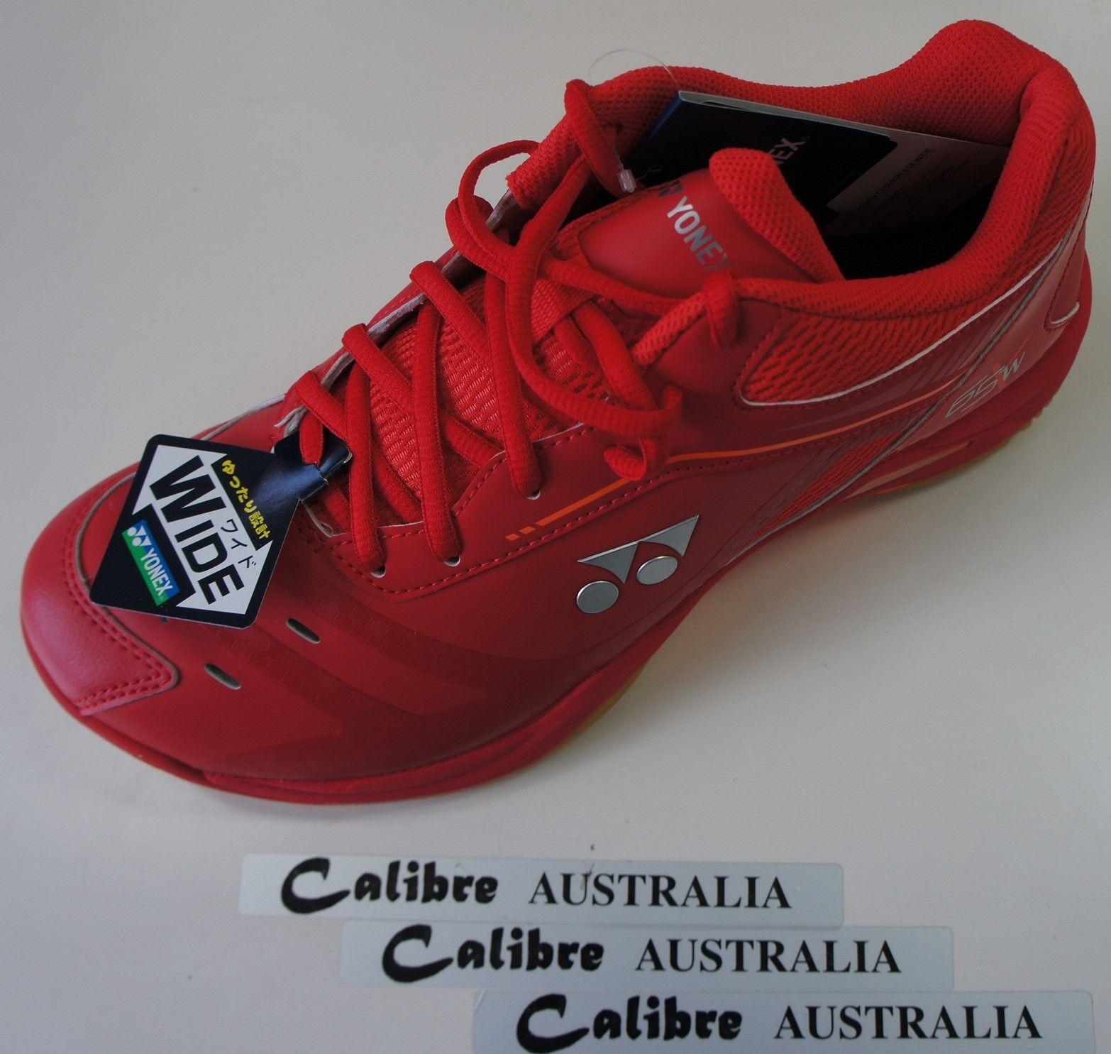 Yonex Badminton Squash Zapatos de Interior SHB65XWEX, 4E de ancho frente, Cristal Rojo