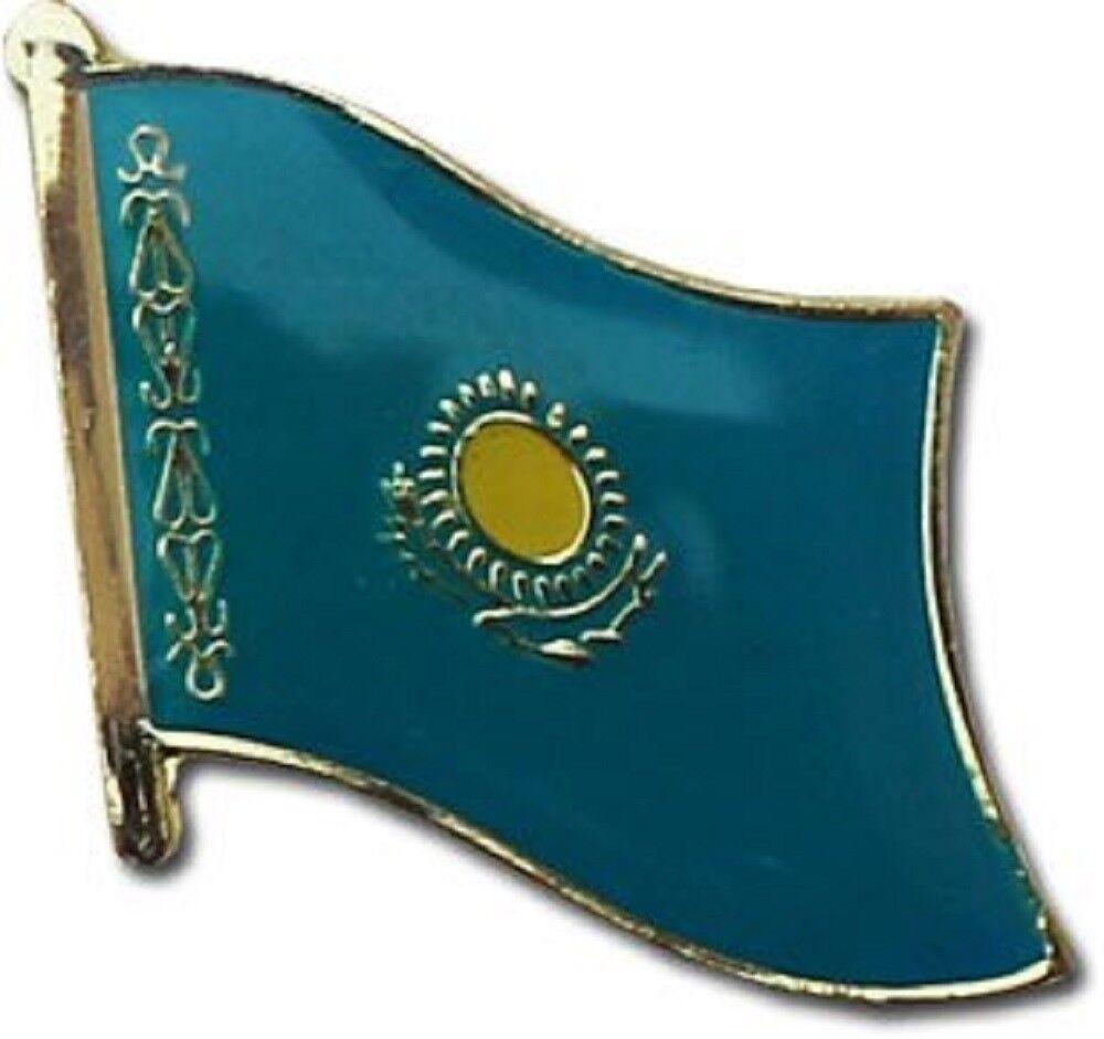 Wholesale Pack of 50 Kazakhstan Country Flag Bike Hat Cap lapel Pin