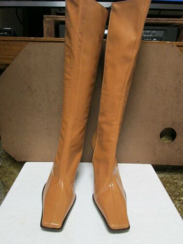 Guess Boots Tan Size Leather Knee 8 5 High 7xqw76fZr