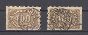 Dt-Reich-Mi-Nr-222-b-c-aus-Freimarken-1922-gestempelt-geprueft-Infla-31686