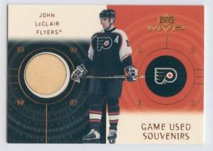 00-01 UPPER DECK MVP GAME-USED SOUVENIRS STICK JOHN LECLAIR FLYERS *52432