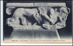 Kunst-AK-um-1910-Skulptur-Italien-Siracusa-Lotta-Leone