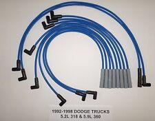 DODGE RAM 1999-2002 5.2L 318 5.9L 360 1500 2500 3500 BLUE 8mm Spark Plug Wires