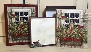 Lang Susan Winget Christmas Cards Window Box And Snow Opened Box 9 Cards Ebay