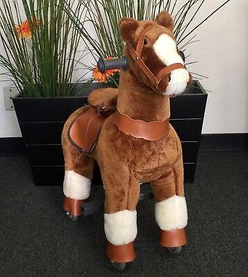 SMALL GiddyUp Ride Horse RideOn BROWN//WHITE Ages 2-5 Boys//Girls 01E USA SHIPPER