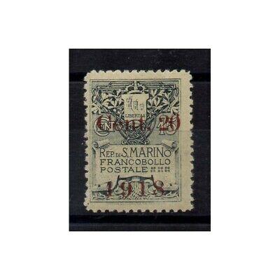 Briefmarken 53 Mf55009 Reisen Dynamisch 1918 San Marine Wappen Der 1910 Soprastampato 1 V-mnh Sass N