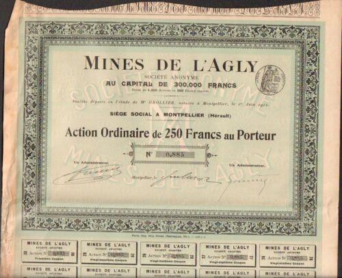 RARE =/> Mines de l/'AGLY S HERAULT 34
