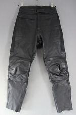 Rhino Negro Cuero De Vaca Cuero Biker Pantalones-cintura 30 Pulgadas/29 pulgadas dentro de la pierna