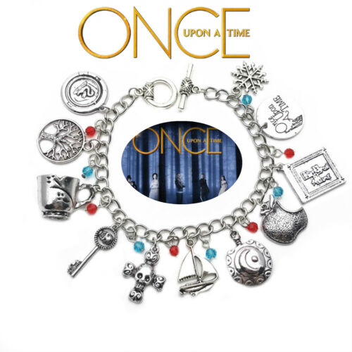 11 Themed Charms Once Upon a Time Inspired Assorted Metal Charm BRACELET