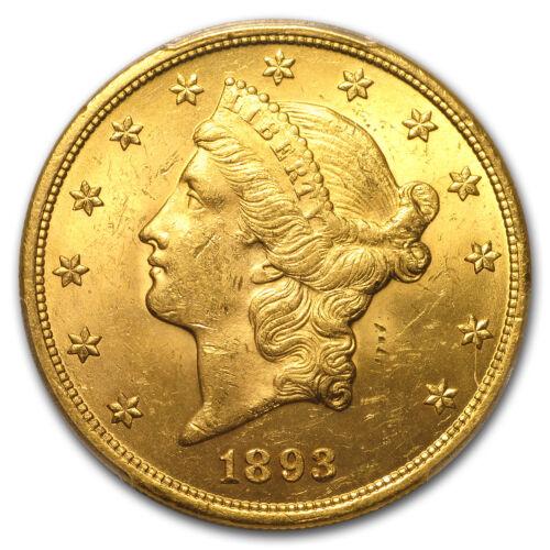 1893 $20 Liberty Gold Double Eagle MS-63 PCGS