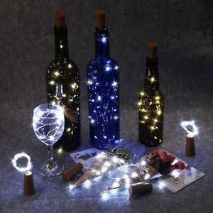 Wine Bottle Fairy String Lights 10//20LED Battery Cork For Party Christmas Xmas