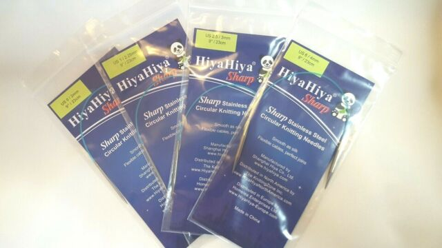 ":Sharp Circular Needles: 1 US 9/"" HiyaHiya"