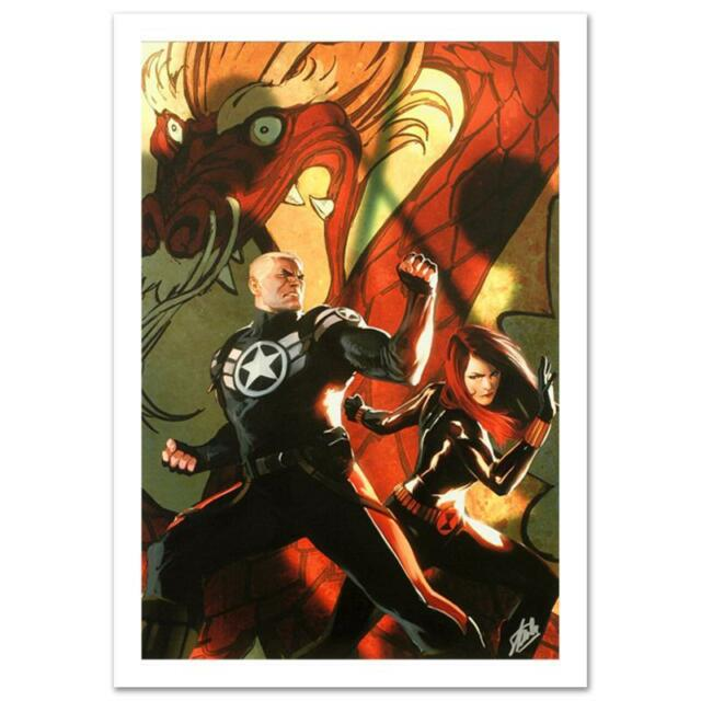 STAN LEE signed AVENGERS Marvel ORIGINAL COMIC Artworks Canvas BLACK WIDOW