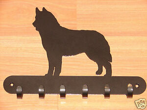 Siberian Husky Leash Rack Key Coat Hook Wall Decor Sled Dog Alaskan
