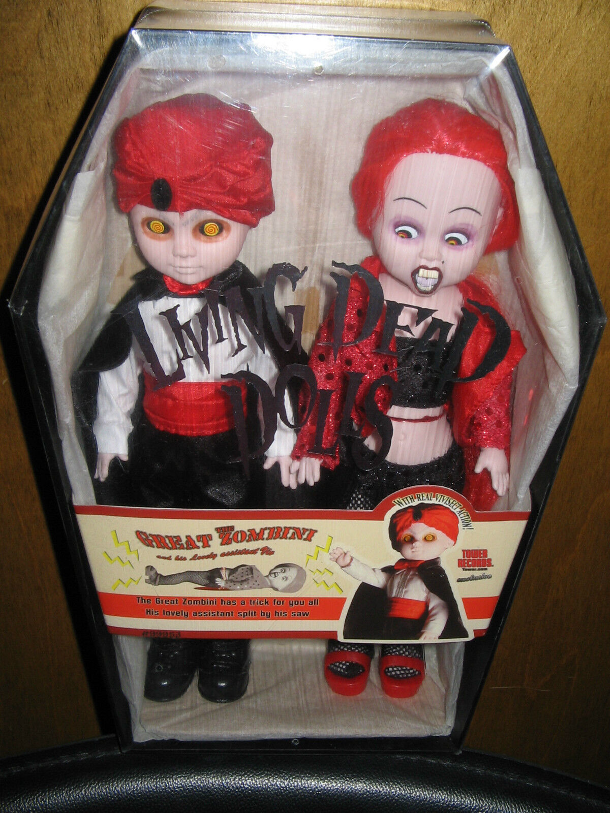 Great Zombini & Viv Living Dead Dolls Magic Exclusive Set Tower Records Sealed