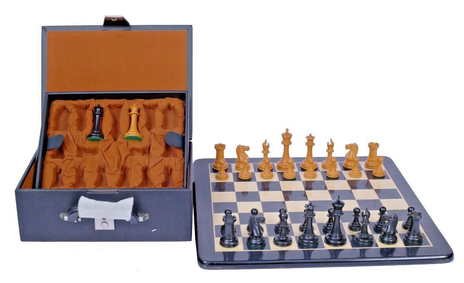 Emil Emil Emil Kemény 1892-93 Reproduction Antique Chessmen with Board & Presentation Box 19dd11