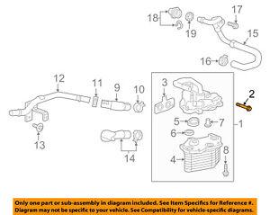 Cadillac GM OEM 16-17 CT6 3.6L-V6 Engine Oil Cooler-Assembly Bolt 11609577    eBayeBay