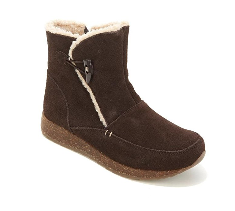 Sporto Grain Suede Toggle Bootie in Chocolate, 6 M