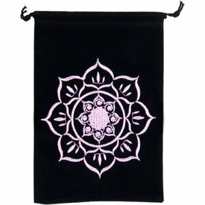 Unlined-Velvet-Bag-Embroidered-Lotus-Black-Wiccan-Wicca-Pagan