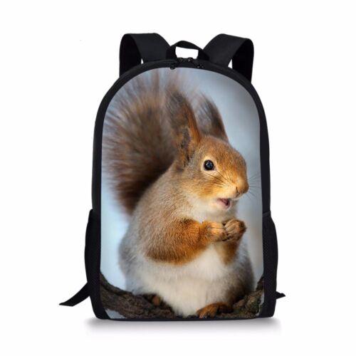 Details about  /Cute Squirrel Girls Book Bag Satchel School Bag Women Laptop Backpack Travel
