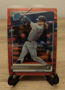 2020 Panini Donruss Optic JAKE FRALEY RATED ROOKIE RED WAVE PRIZM - MARINERS