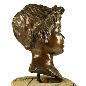 Knaben Büste Bronze Fonderia Artistica Walter Bagnoli Napoli Busto Bronzo